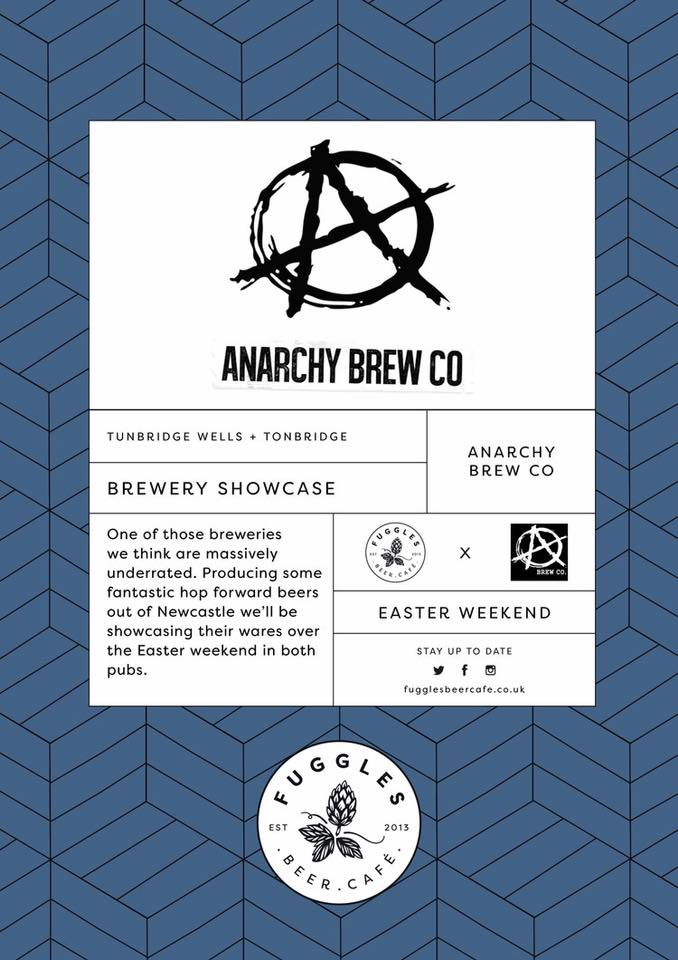 Anarchy Brew Co. beers are heading to Fuggles this Easter